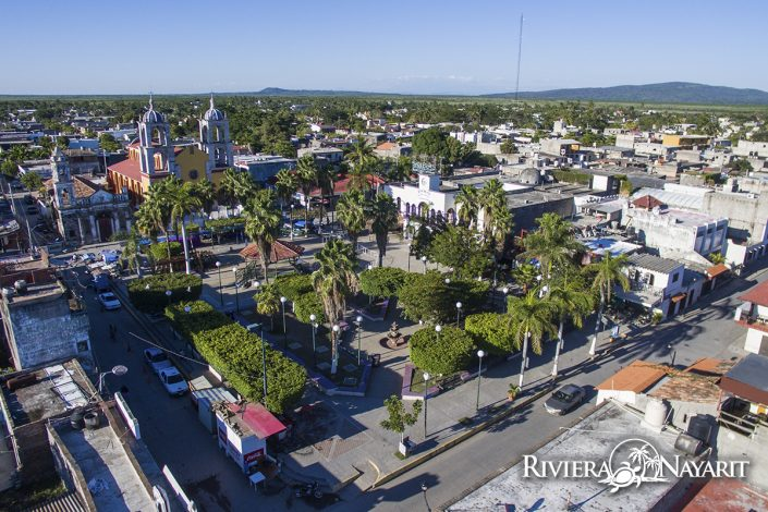 Aerial view of San Blas in Riviera Nayarit Mexico
