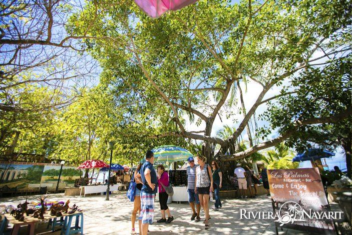 Las Palmas restaurant and bar in San Pancho Riviera Nayarit Mexico