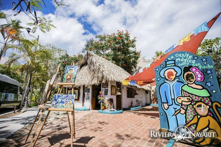 La Casita Magical Art Gallery in San Pancho Riviera Nayarit Mexico
