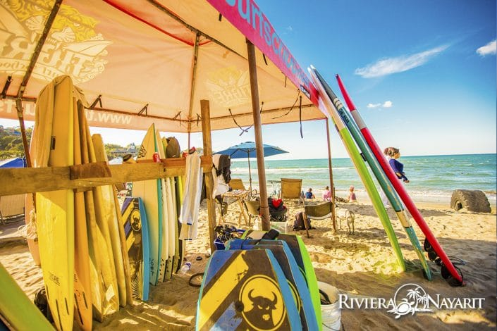 Surf board rentals in Sayulita Riviera Nayarit Mexico