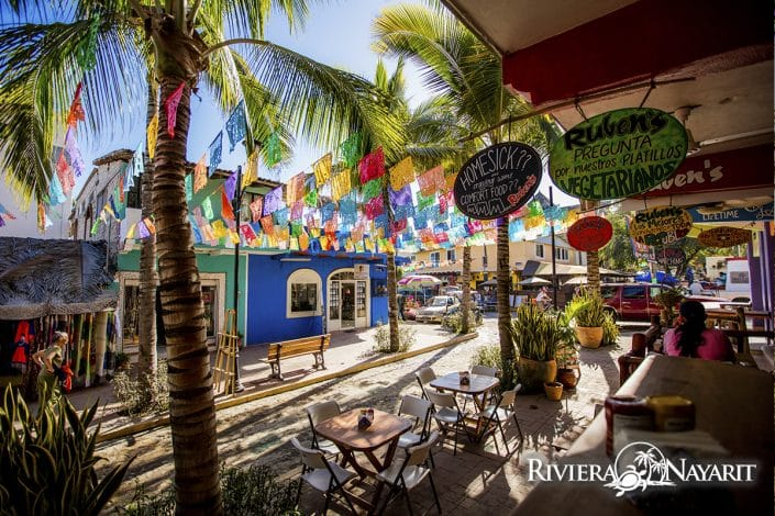 Beach restaurants in Sayulita Riviera Nayarit Mexico
