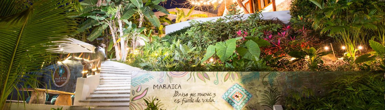 Maraica hotel entrance banner image - Rivera Nayarit Mexico