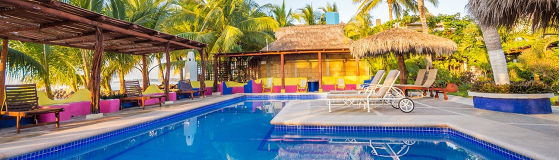 Swimming pool at Meson de Mita Hotel in Riviera Nayarit Mexico