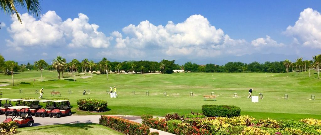 El Tigre Golf Course driving range in Nuevo Vallarta Rivera Nayarit MX
