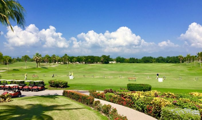 El Tigre Golf Course driving range in Nuevo Vallarta Rivera Nayarit MX