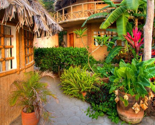 Playa Escondida Huts with lush vegetation - Riviera Nayarit