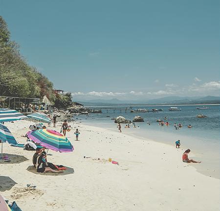 Beach as Isla Coral near Rincon de Guayabitos Nayarit