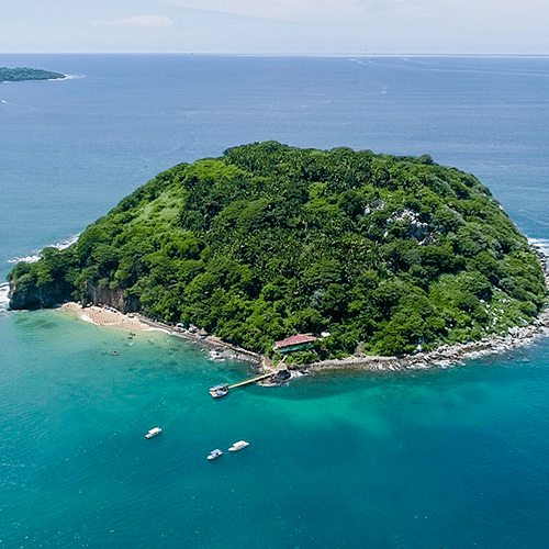 Aerial view of Isla Coral Island in Riviera Nayarit