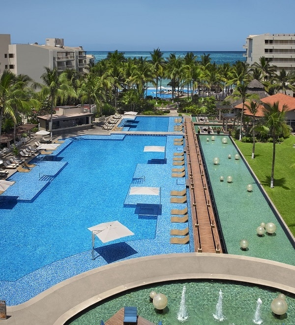 View of pool from Reflect hotel balcony in Riviera Nayarit