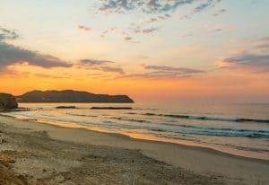 Beach sunset at Xiobella Hotel in Punta Mita Rivera Nayarit