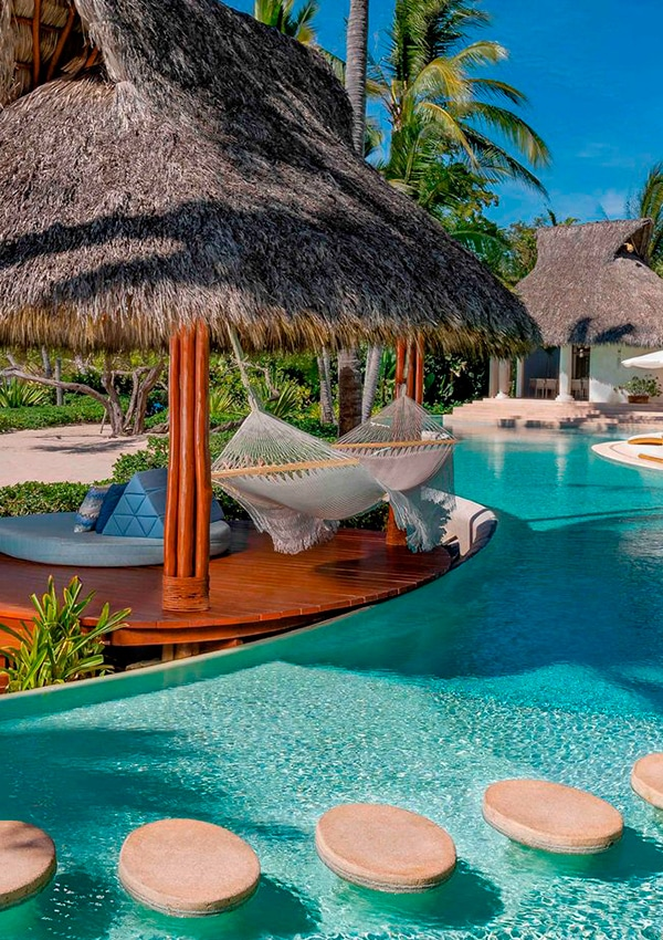 Poolside at Palmasola Hotel and Resort in Riviera Nayarit